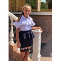 Школьная юбка с баской для подростка