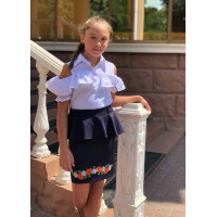 Шкільна спідниця з баскою для підлітка