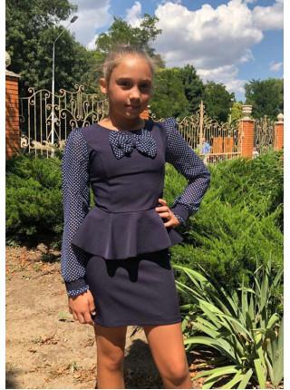 Шкільне плаття з баскою