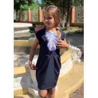 Шкільне плаття з коротким рукавом і жабо