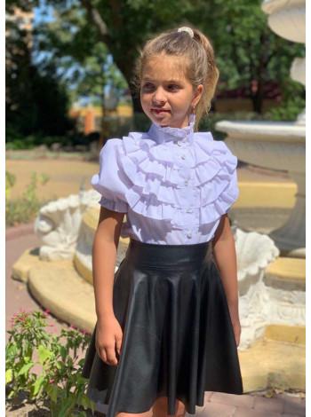Детская кожаная юбка солнце