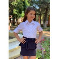 Белая блузка с длинным рукавом для девочки