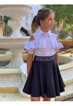 Детская юбка солнце с вышивкой