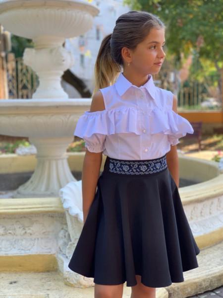 Дитяча юбка сонце з вишивкою