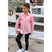 Блузка з довгим рукавом для дівчинки
