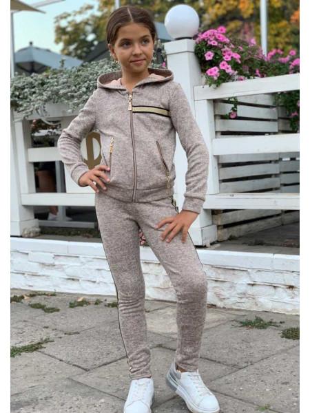 Детский спортивный костюм на флисе для девочки