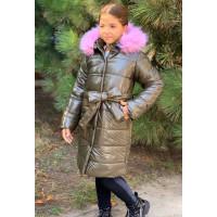 Довга зимова куртка для дівчинки підлітка
