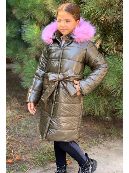 Длинная зимняя куртка для девочки подростка