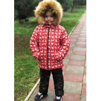 Дитяча зимова куртка для дівчинки на хутрі