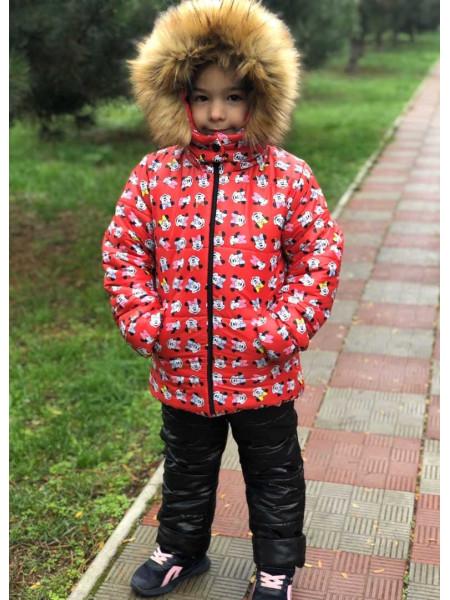 Детская зимняя куртка для девочки на меху
