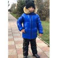 Дитячий зимовий костюм для хлопчика на хутрі