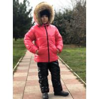 Дитячий зимовий костюм для дівчинки на хутрі