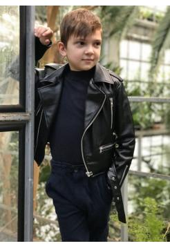 Шкіряна куртка косуха для хлопчика