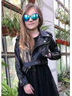 Дитяча шкіряна куртка косуха для дівчаток