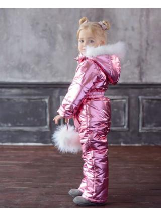 Дитячий модний теплий комбінезон для дівчаток
