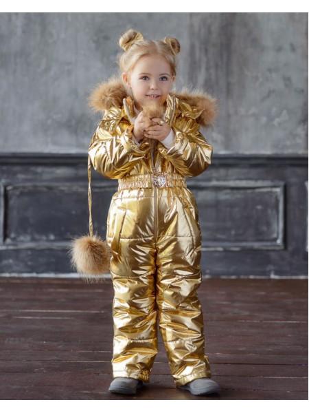 Детский модный теплый комбинезон для девочек