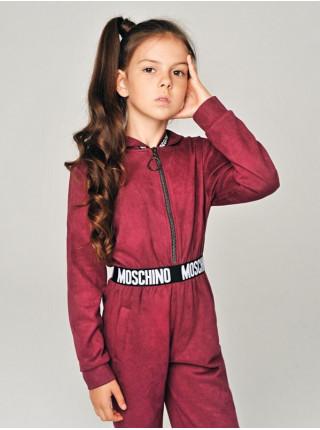 Модний замшевий комбінезон для дівчинки
