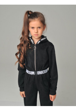 Модный замшевый комбинезон для девочки