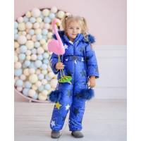 Дитячий зимовий комбінезон із капюшоном для дівчинки
