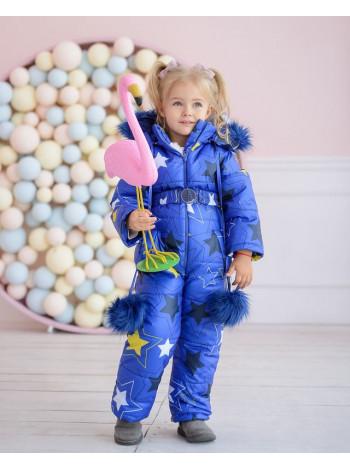 Детский зимний комбинезон с капюшоном для девочки