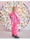 Дитячий зимовий костюм Із комбінезоном для дівчинки