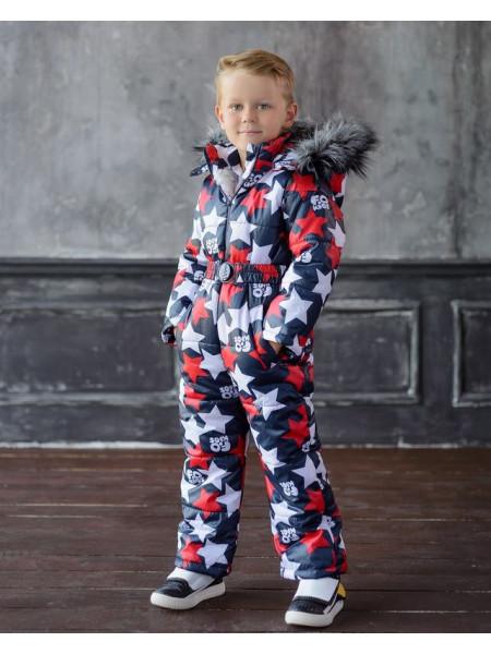 Теплый зимний комбинезон для мальчика