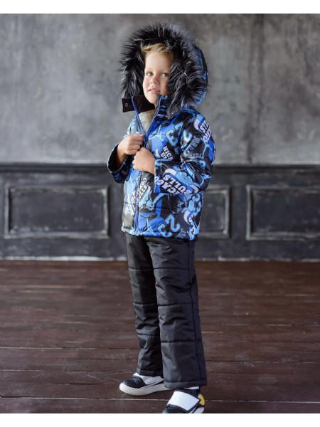 Зимний детский костюм с комбинезоном для мальчика