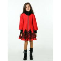 Красивое детское пальто с кружевом для девочки