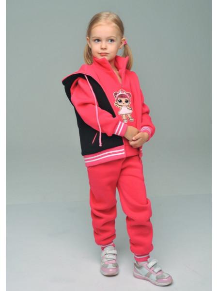 Теплый детский спортивный костюм тройка