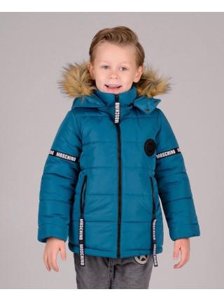 Детская зимняя куртка с капюшоном и мехом