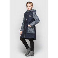 Дитяче кашемірове пальто з капюшоном