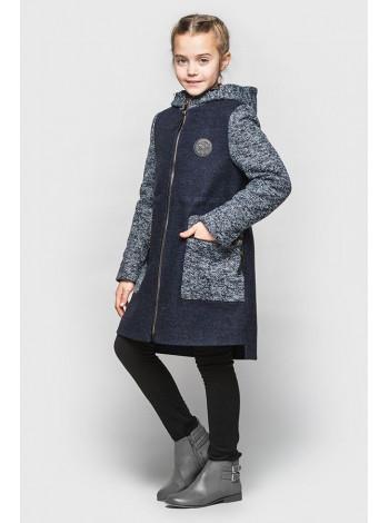Детское кашемировое пальто с капюшоном