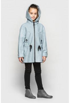 Детское пальто на девочку с капюшоном