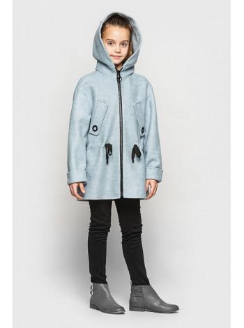 Дитяче пальто на дівчинку з капюшоном