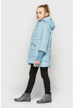 Демісезонна куртка для дівчинки з манжетами