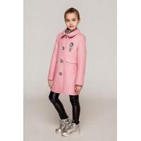 Розовое кашемировое пальто для девочек