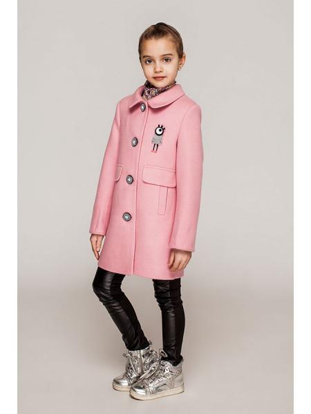 Рожеве кашемірове пальто для дівчаток