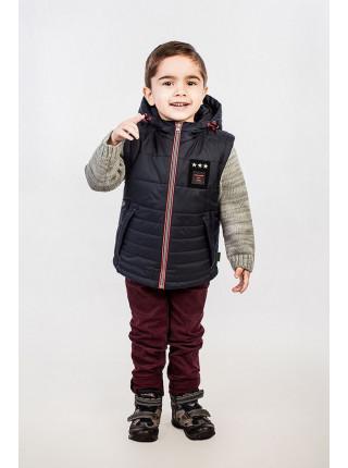 Модна дитяча куртка на хлопчика зі знімними рукавами