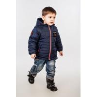 Модная детская куртка на мальчика со съемными рукавами