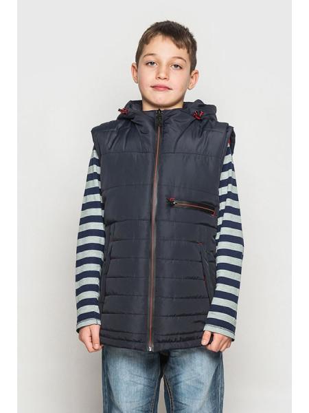 Демісезонна куртка для підлітка зі знімними рукавами