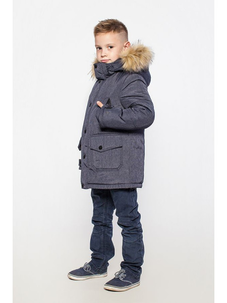 Модный зимний пуховик для мальчика