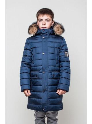 Удлиненная зимняя куртка для мальчика
