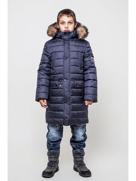 Подовжена зимова куртка для хлопчика