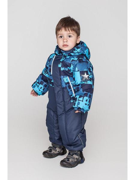 Зимний детский комбинезон для мальчика