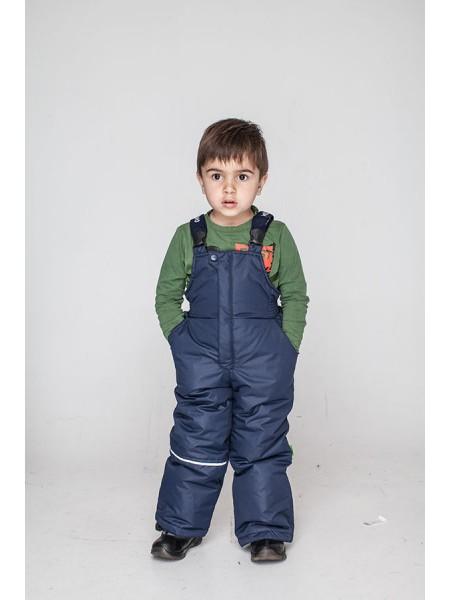 Зимовий дитячий напівкомбінезон штани для хлопчика