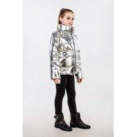 Демисезонная куртка металлик для девочки