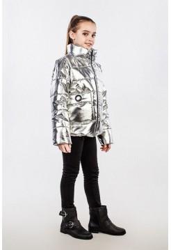 Демісезонна куртка металік для дівчинки