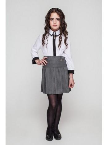 Школьная юбка в мелкую складку