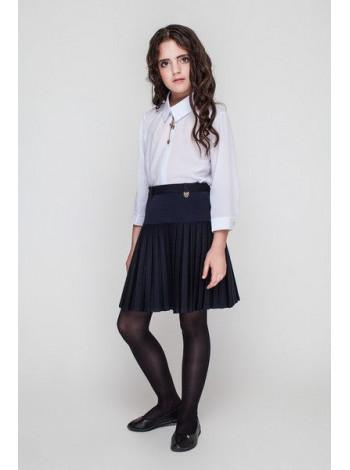 Школьная юбка в складку для девочки