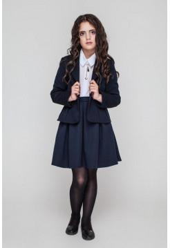 Шкільна юбка в крупну складку